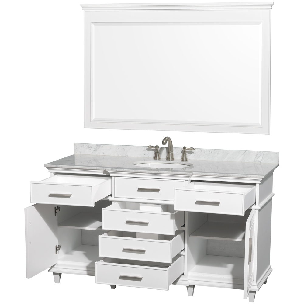 60 Inch Bathroom Vanity Single Sink White1000 X 1000