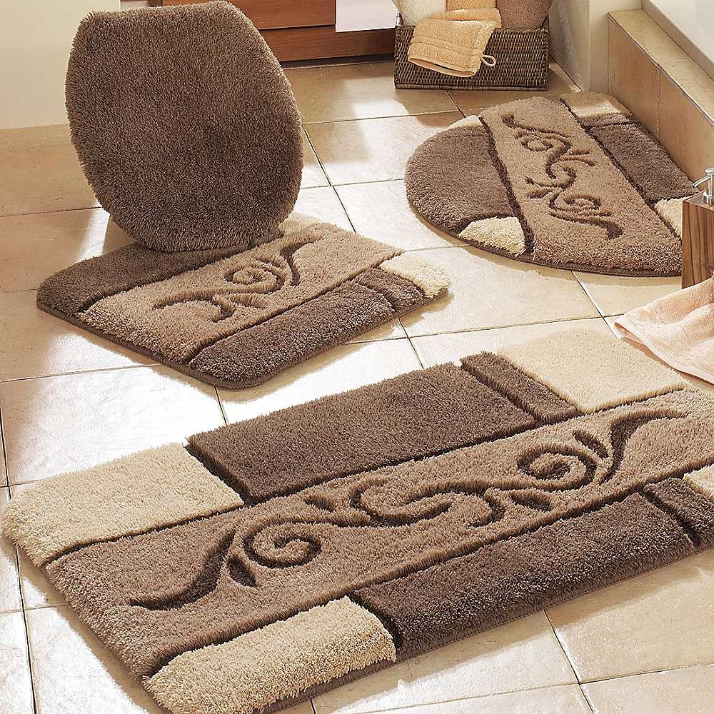 Bath Rugs Mats Toilet Seat Cover Sets