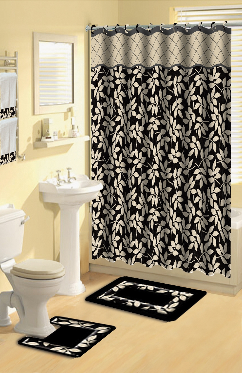 Bathroom Rug Sets With Shower Curtain