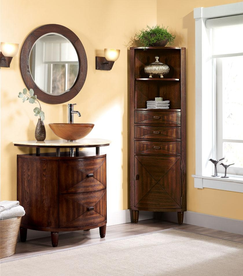 Corner Linen Cabinets For Bathrooms