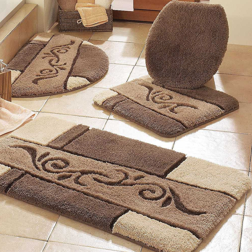 Dark Brown Bathroom Rugs
