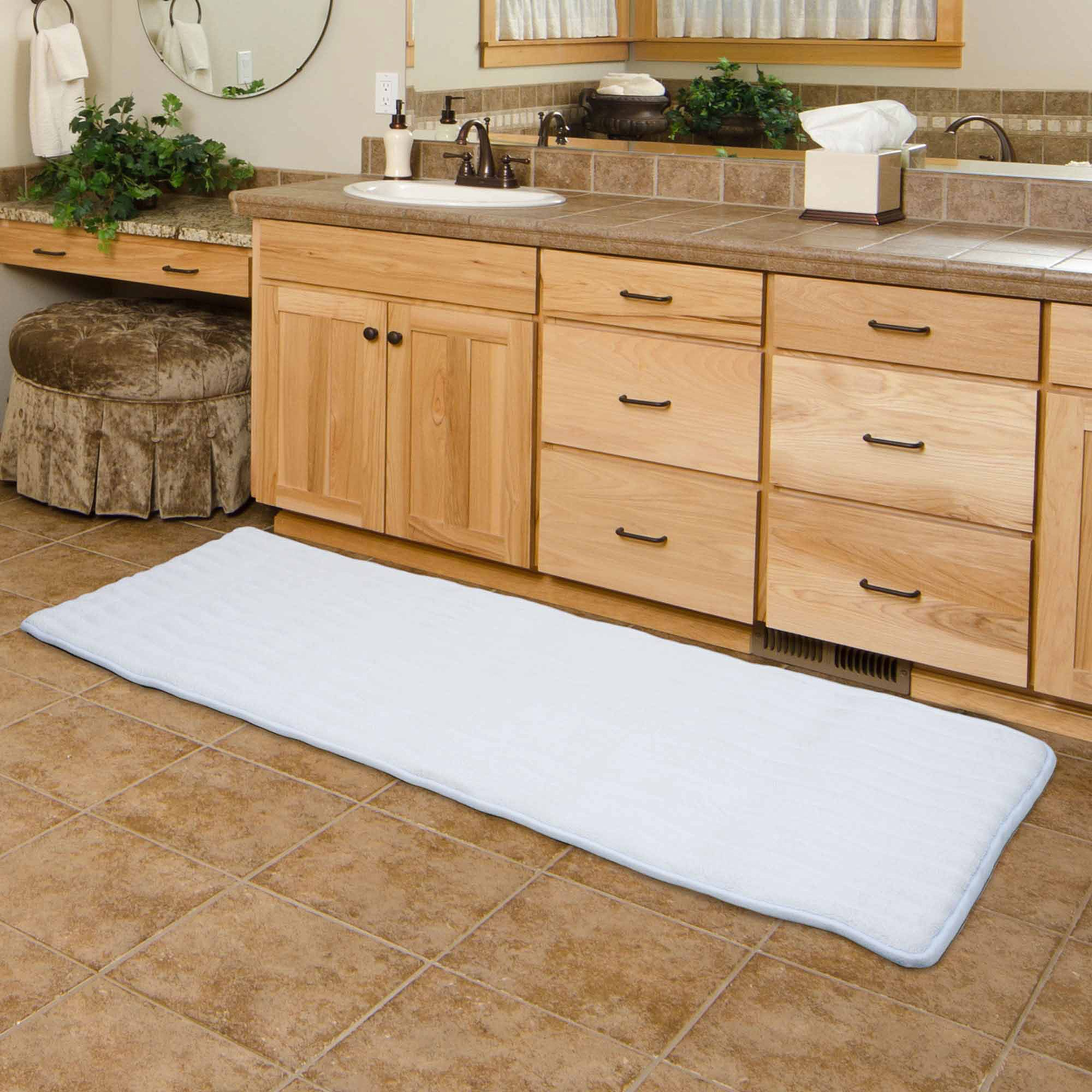 Long Bathroom Rugssomerset home memory foam extra long bath mat 24 x 60 walmart