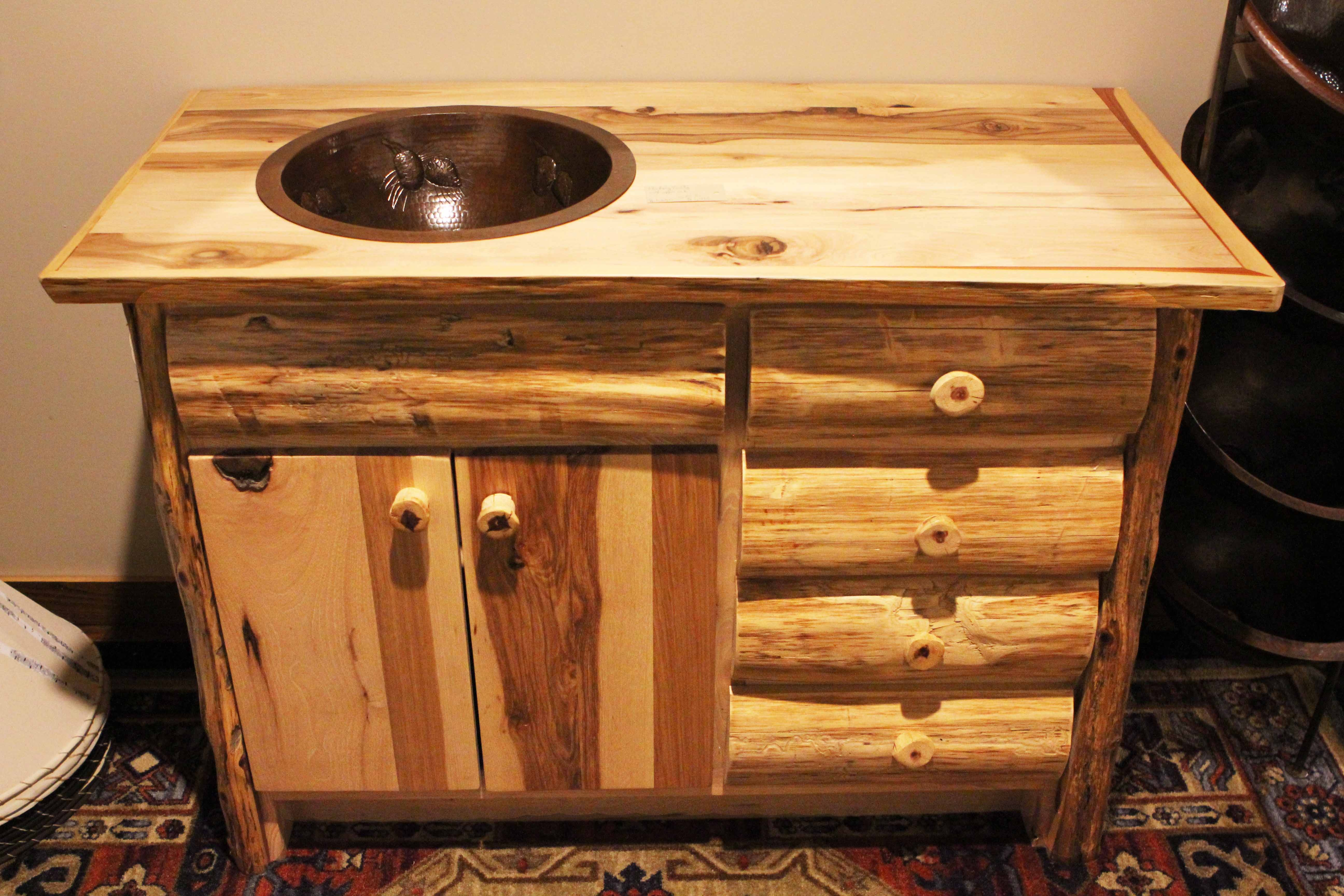 Rustic Hickory Bathroom Vanities