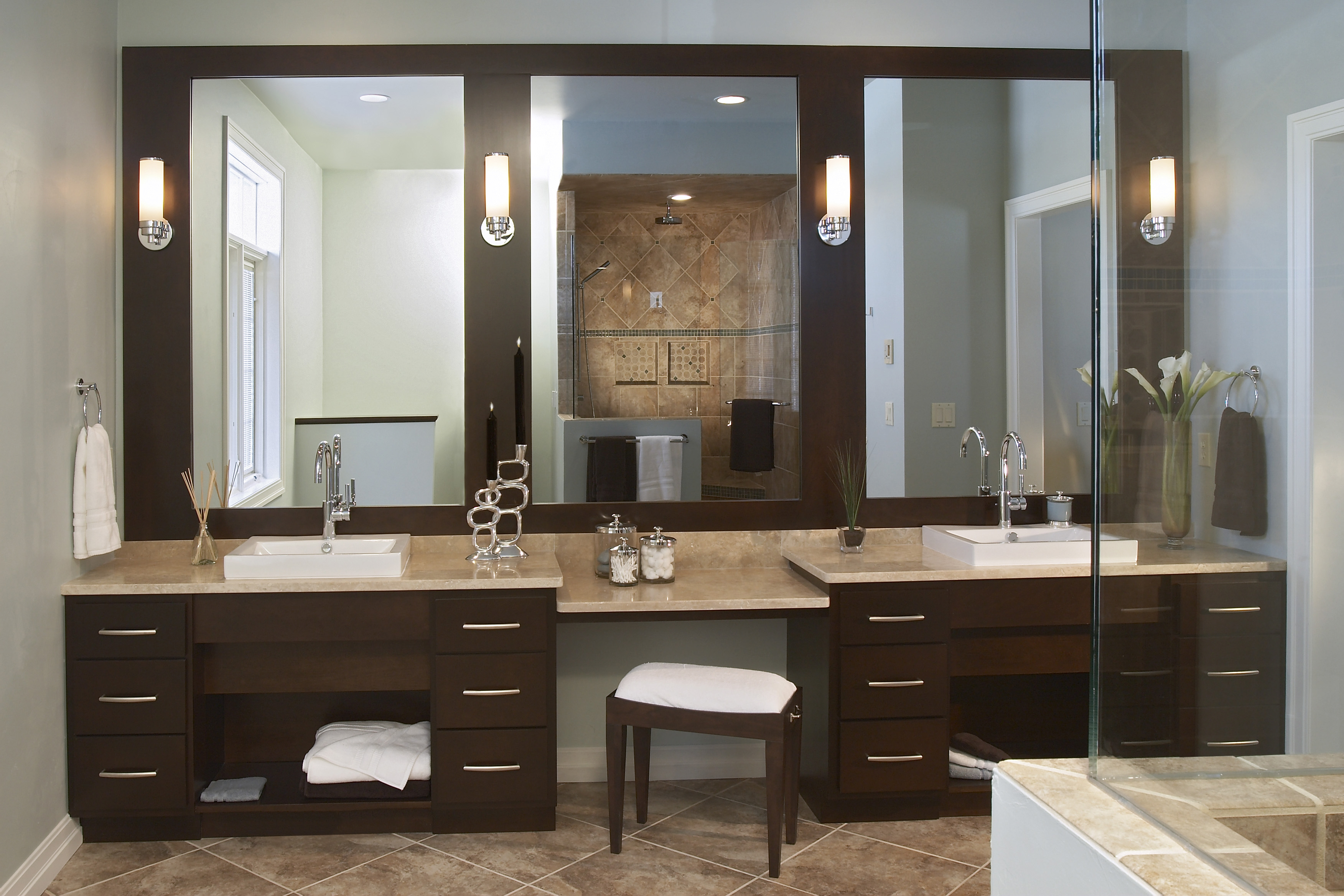 Standard Height For Light Over Bathroom Vanity