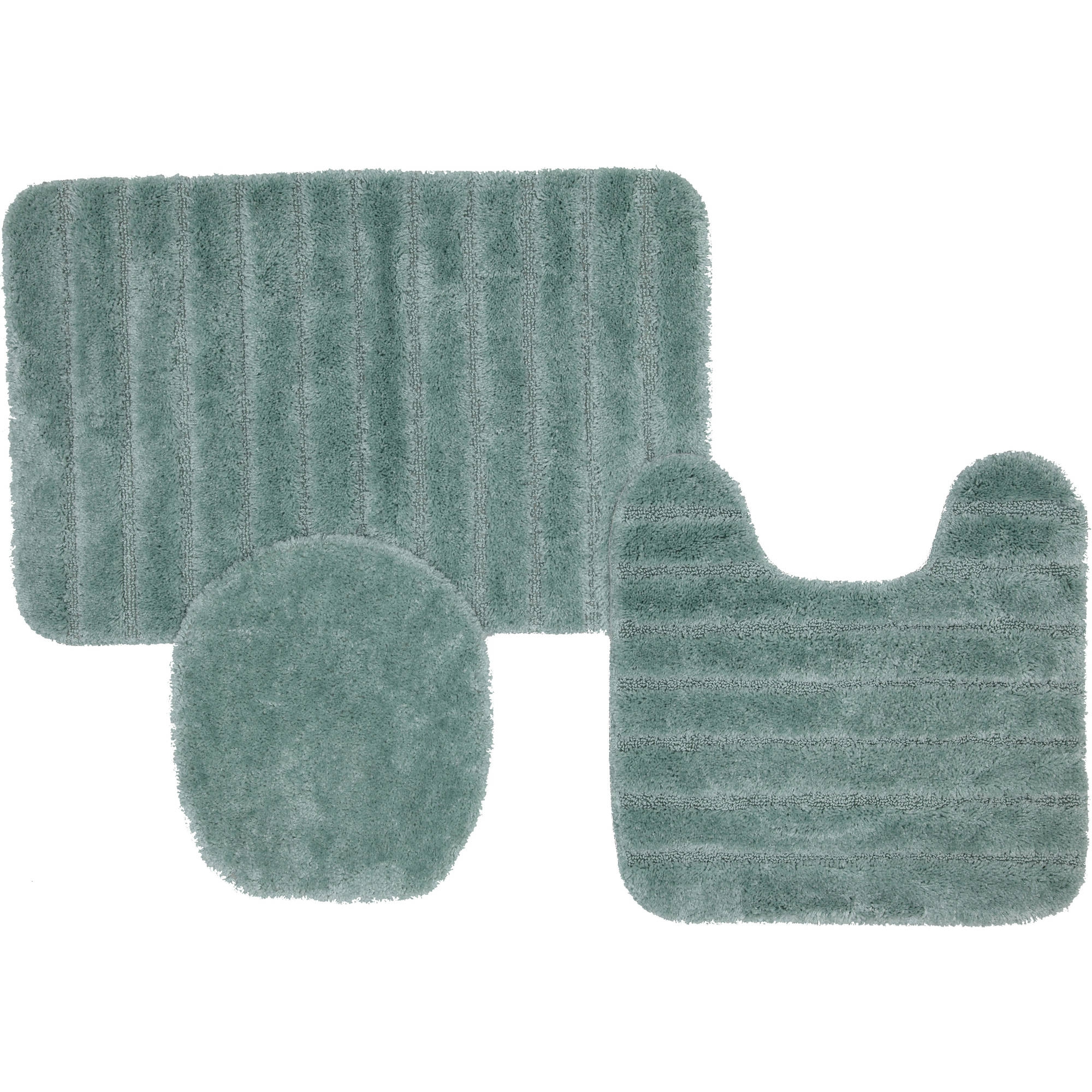 Three Piece Bath Rug Sets