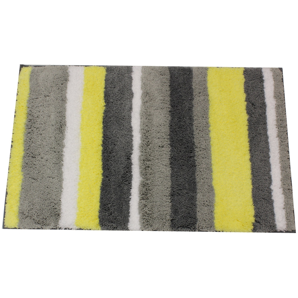 Yellow And Grey Bathroom Rugs