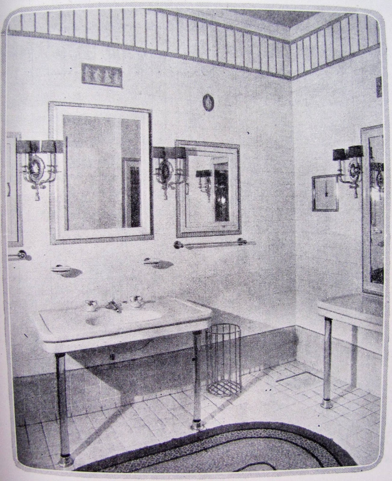 1920s Bathroom Vanity