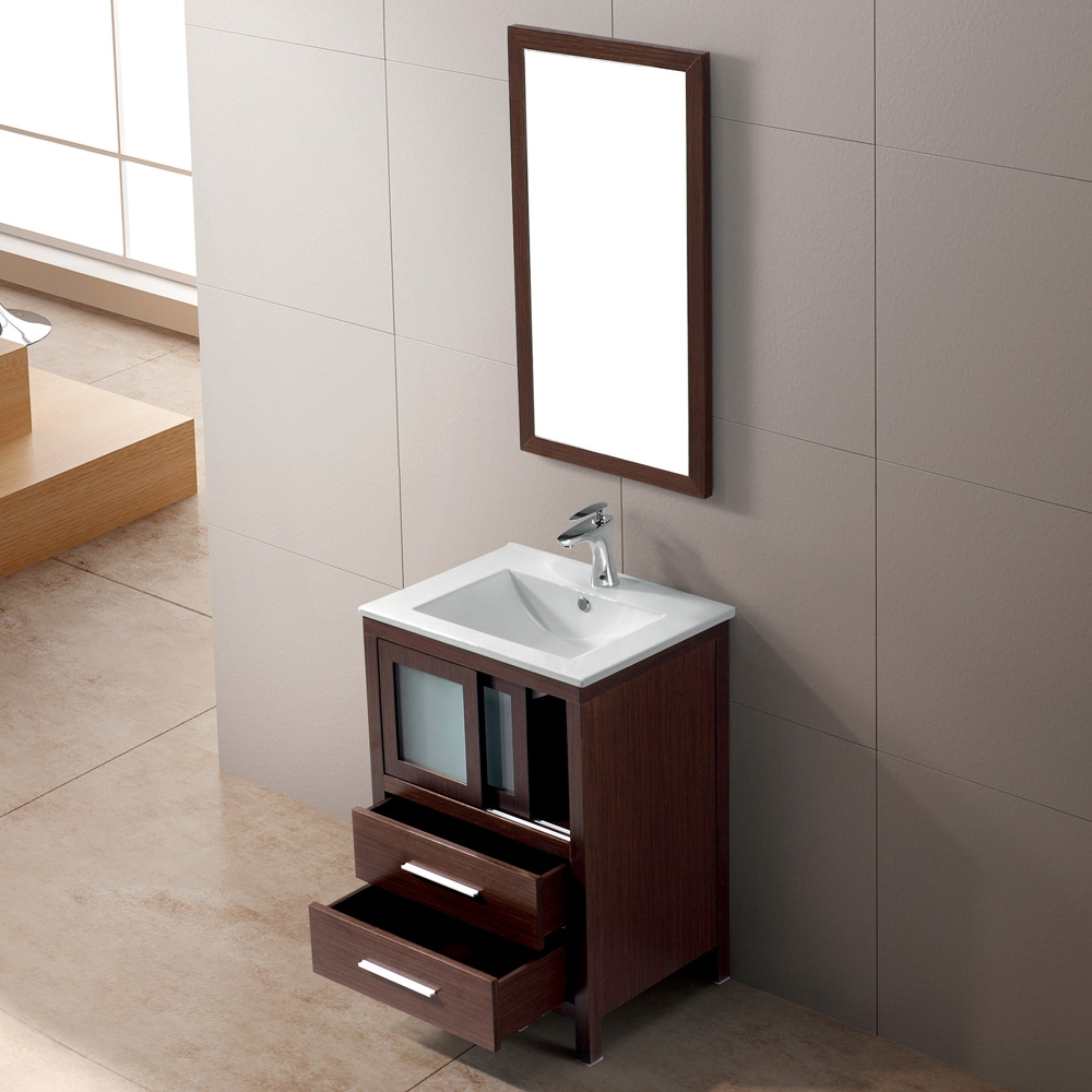 24 Inch Bathroom Vanity With 2 Drawers