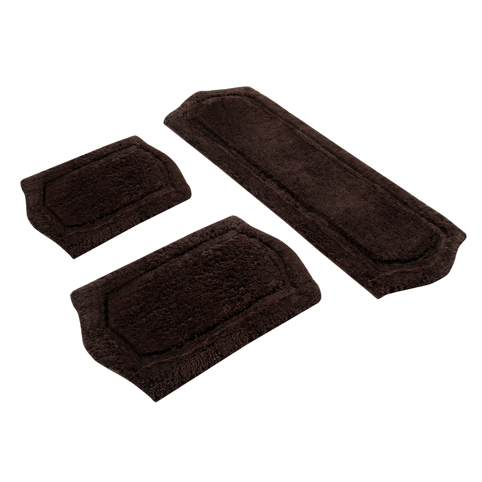3 Piece Memory Foam Bath Rug Set