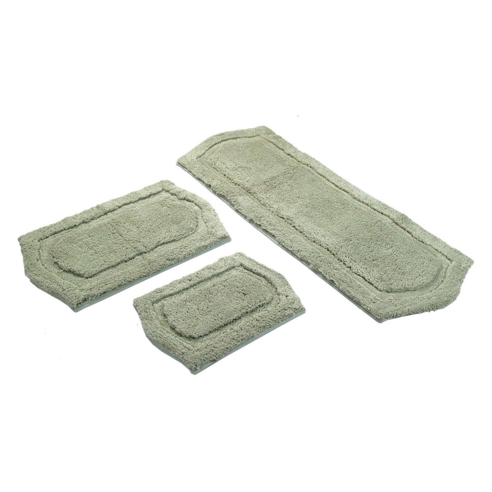 Permalink to 3 Piece Paradise Memory Foam Bath Rug Set