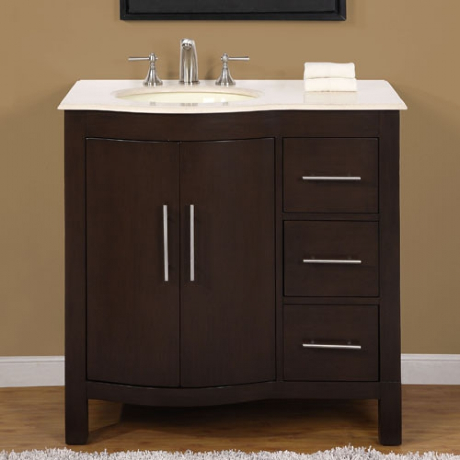 36 Inch Bathroom Vanity With 3 Drawers