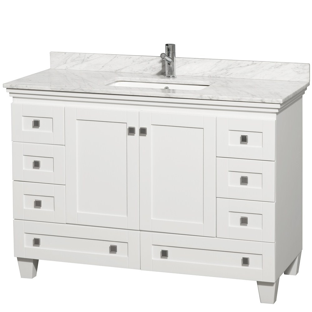 42 Inch White Bathroom Vanity With Top
