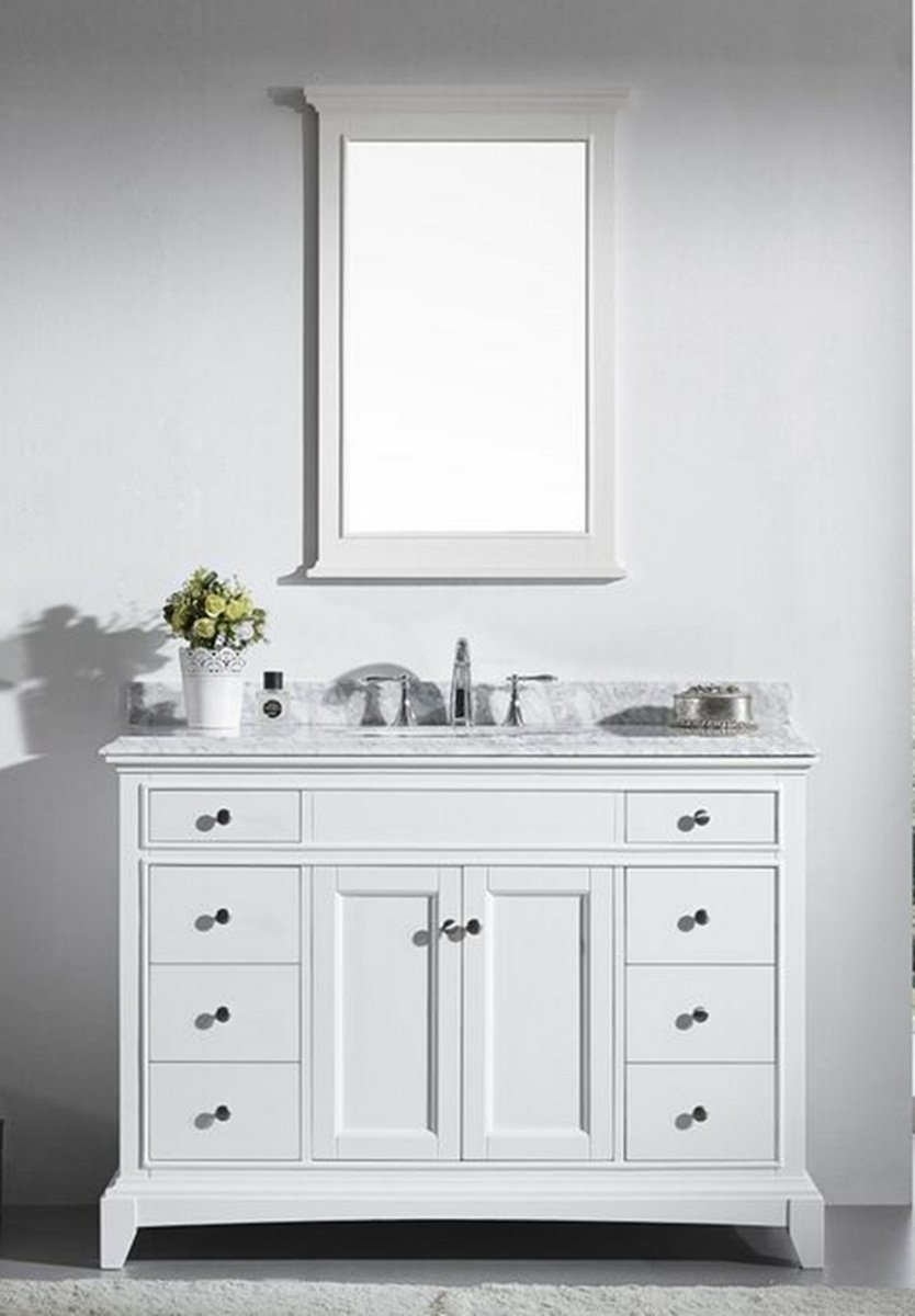 48 Bathroom Vanity With Carrera Marble Top