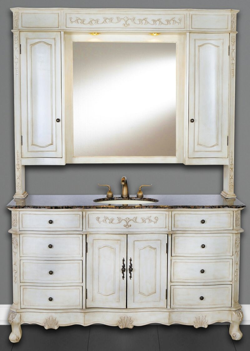 48 Bathroom Vanity With Hutch
