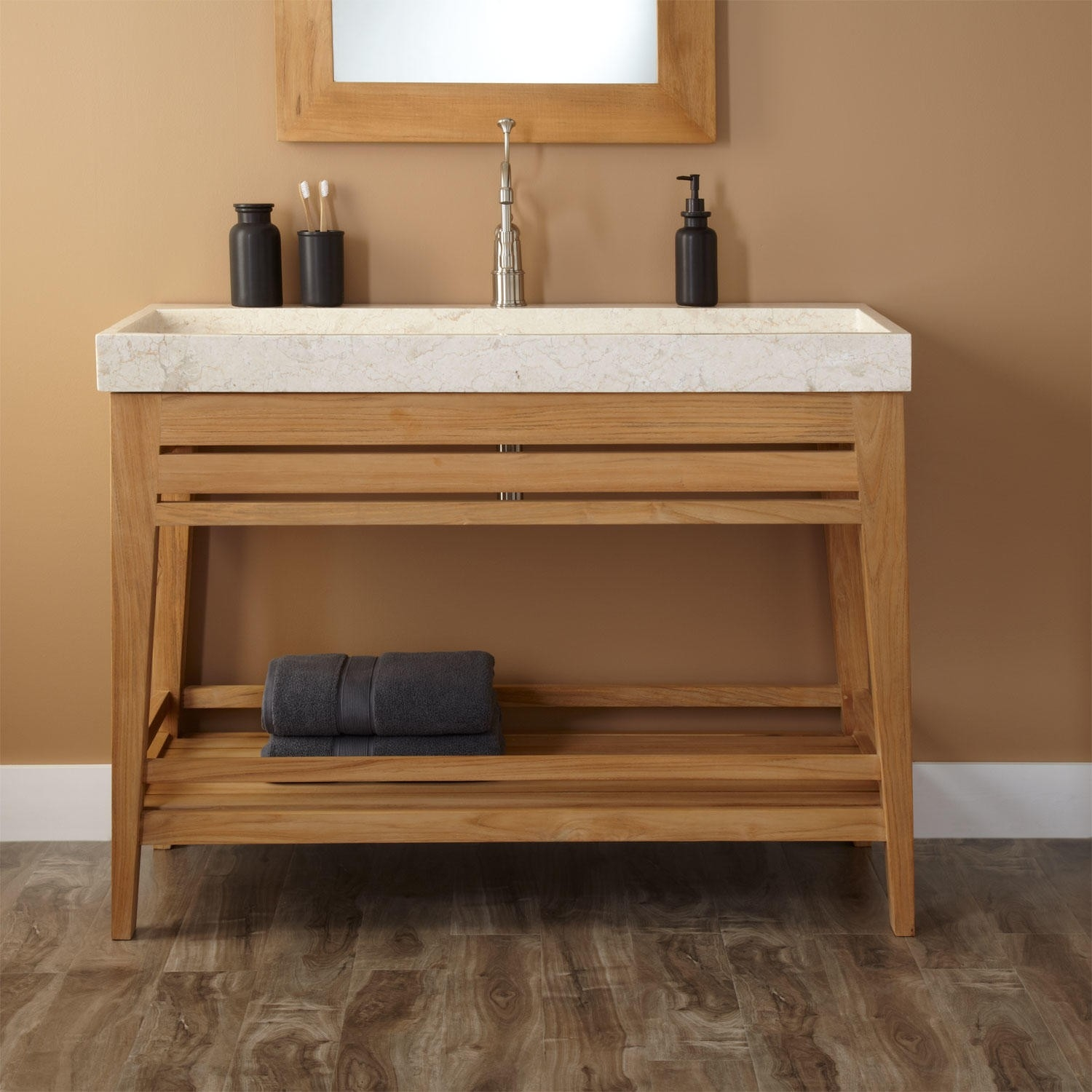 48 Bathroom Vanity With Trough Sink