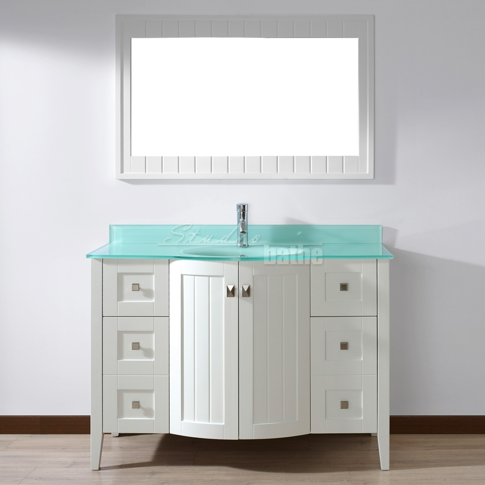 48 Inch White Bathroom Vanity With Top