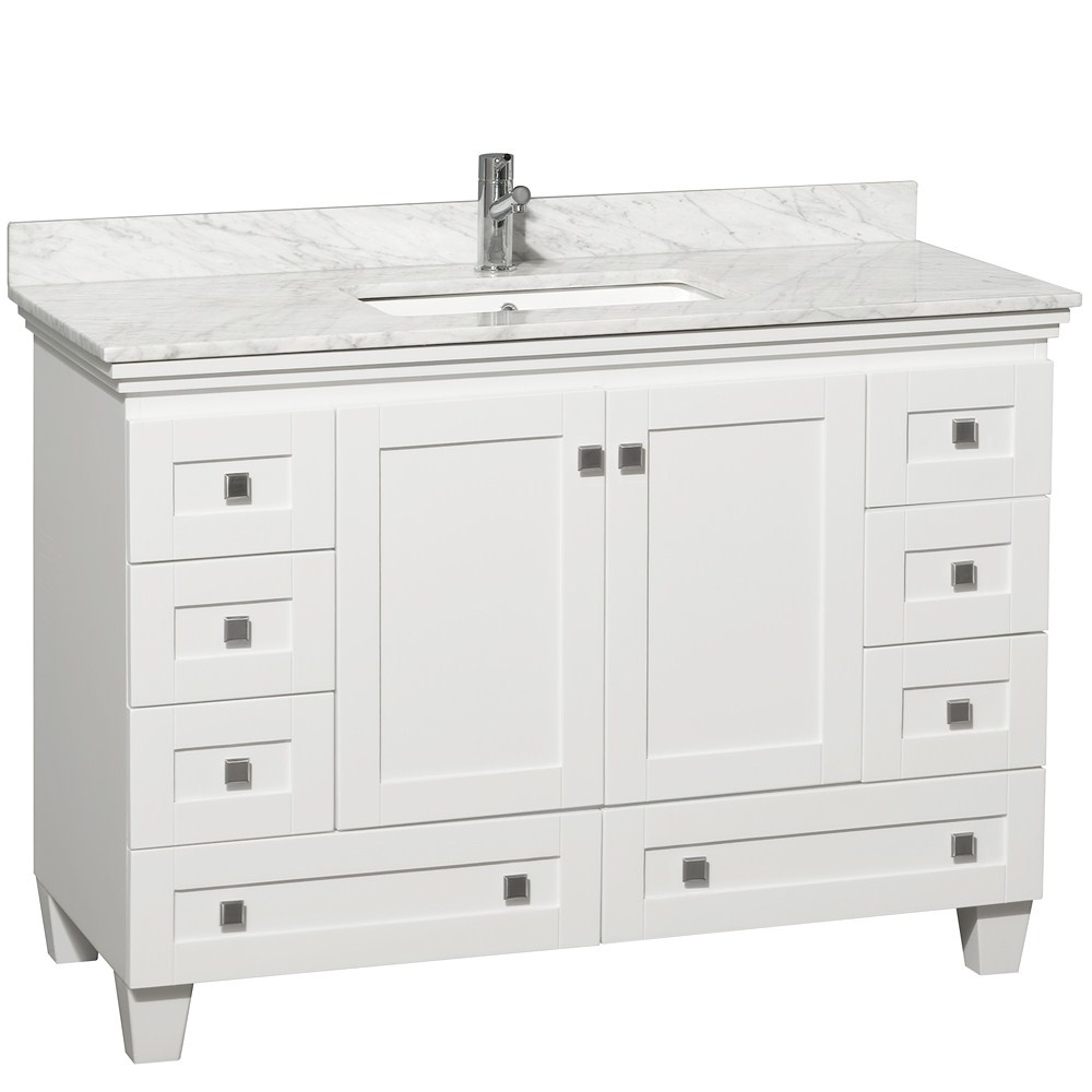 48 Inch White Bathroom Vanity Without Top