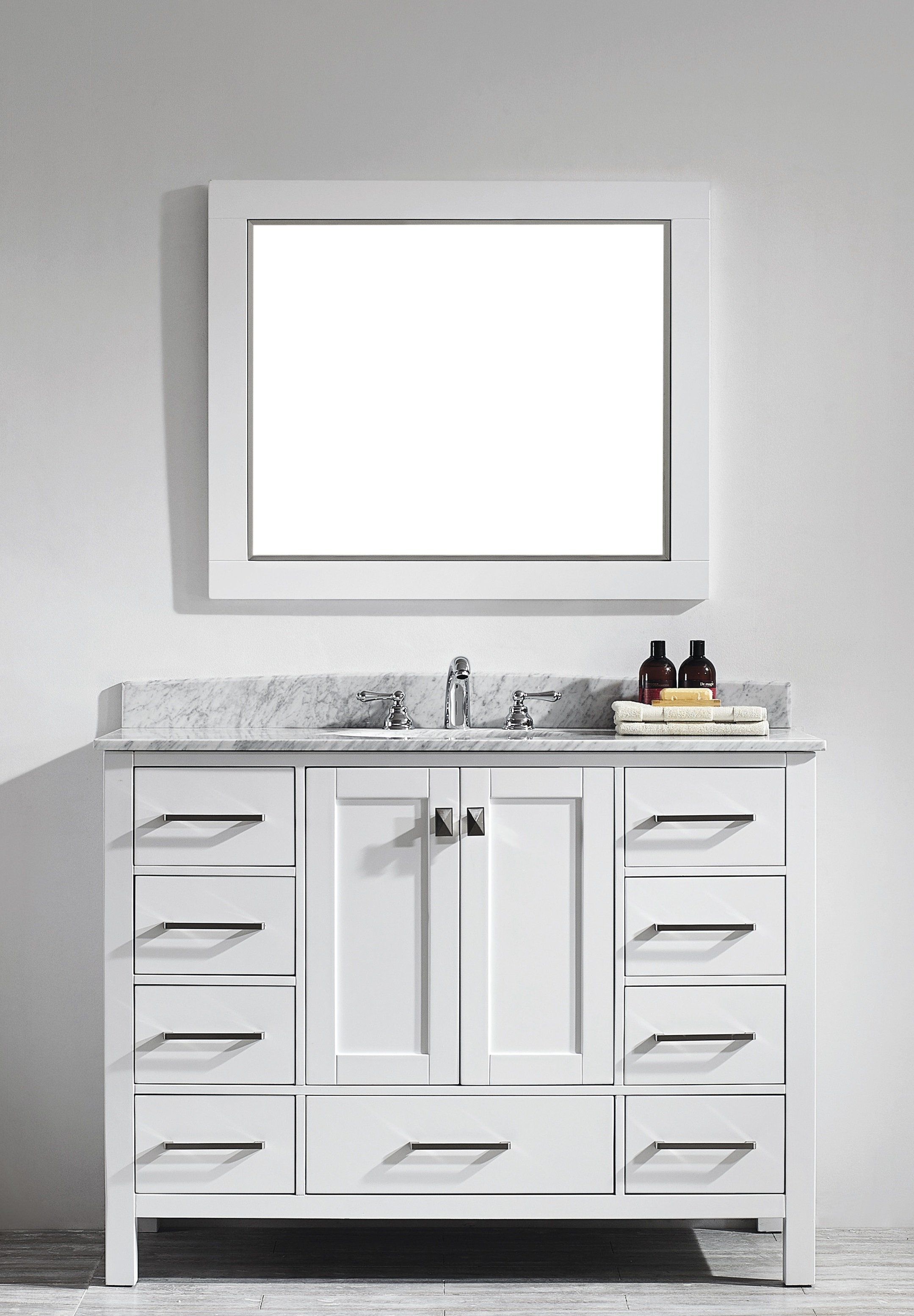 48 White Vanity With Marble Top2159 X 3107