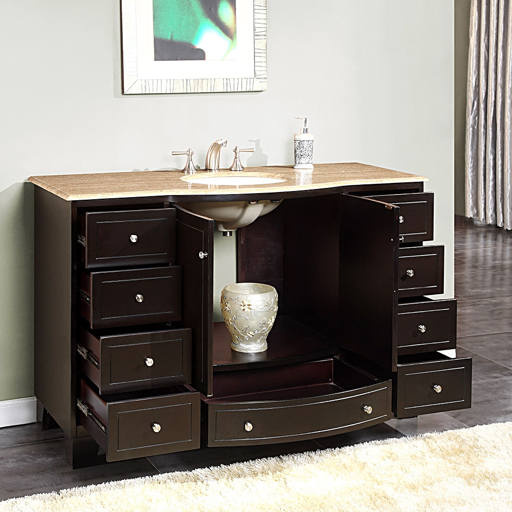 55 Bathroom Vanity Cabinet Single Sink
