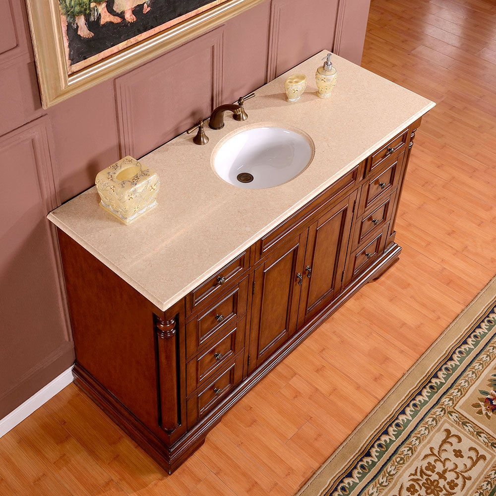 58 Inch Bathroom Vanity Single Sink