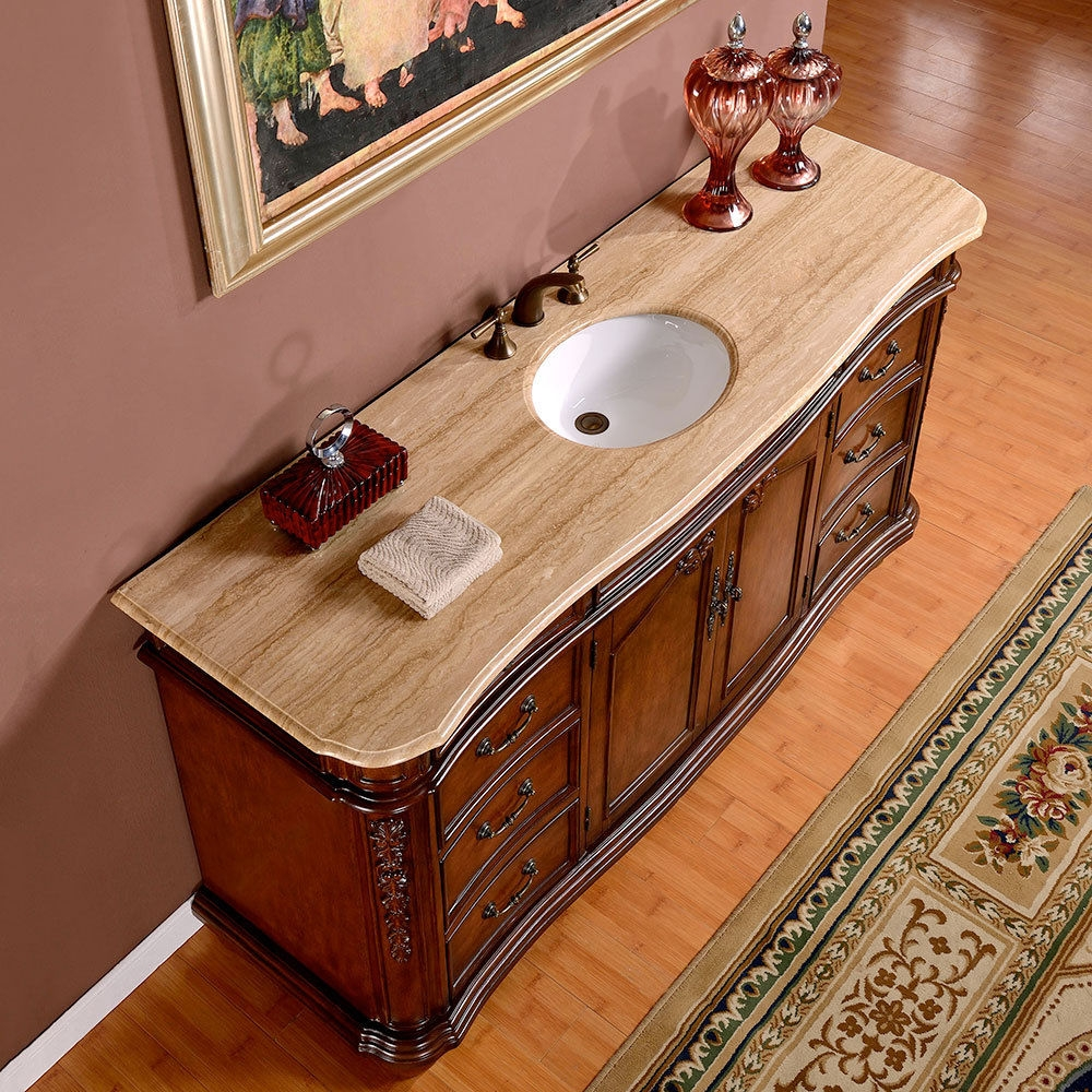 72 Inch White Bathroom Vanity Single Sink