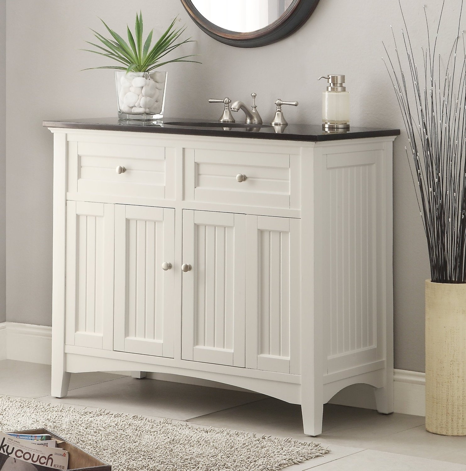Adelina 36 Inch Antique White Bathroom Vanity