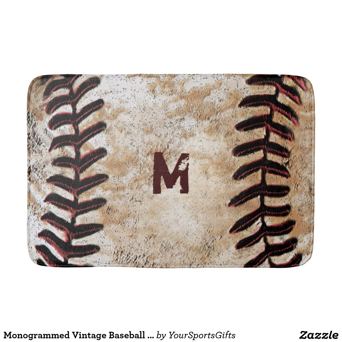 Baseball Bathroom Rug