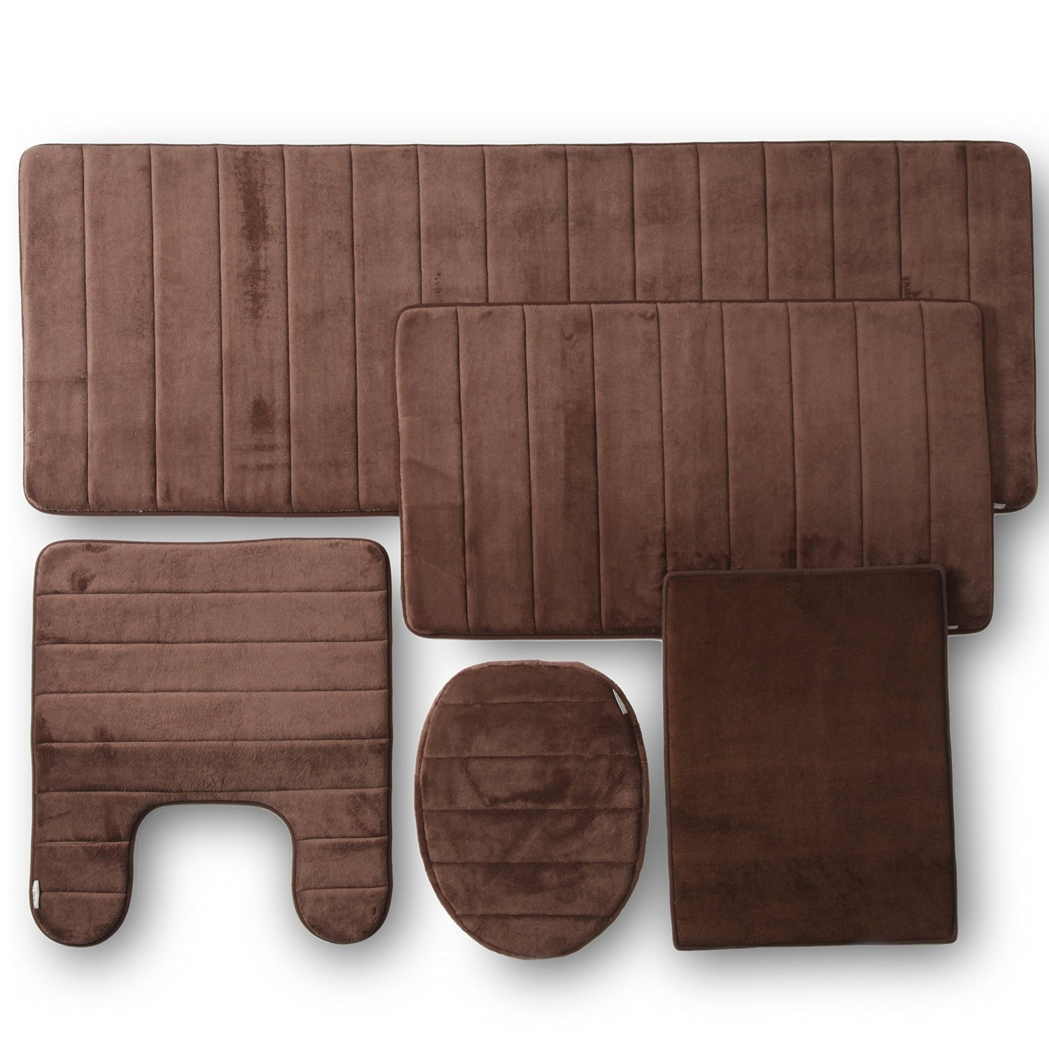 Permalink to Bath Set With Memory Foam Rugs