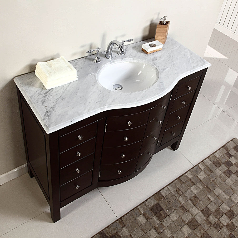 Bathroom Cabinets With Marble Tops
