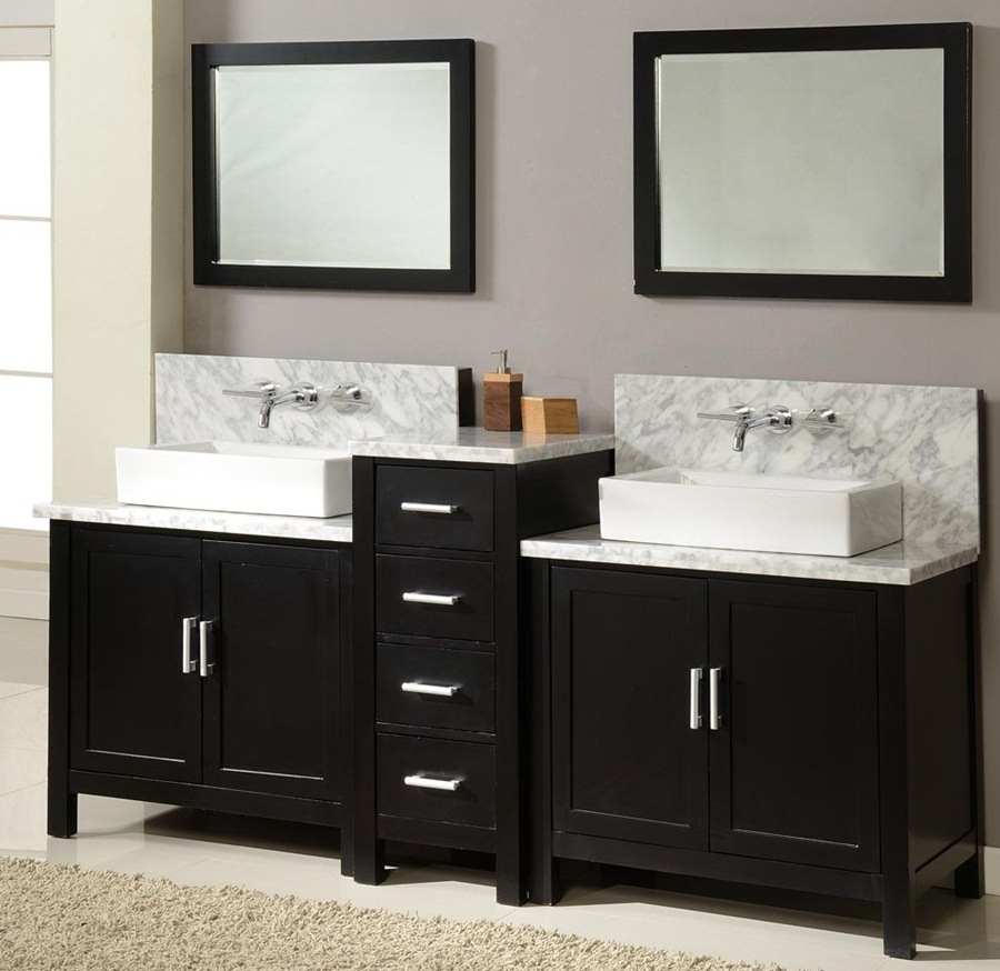 Bathroom Cabinets With Two Sinks