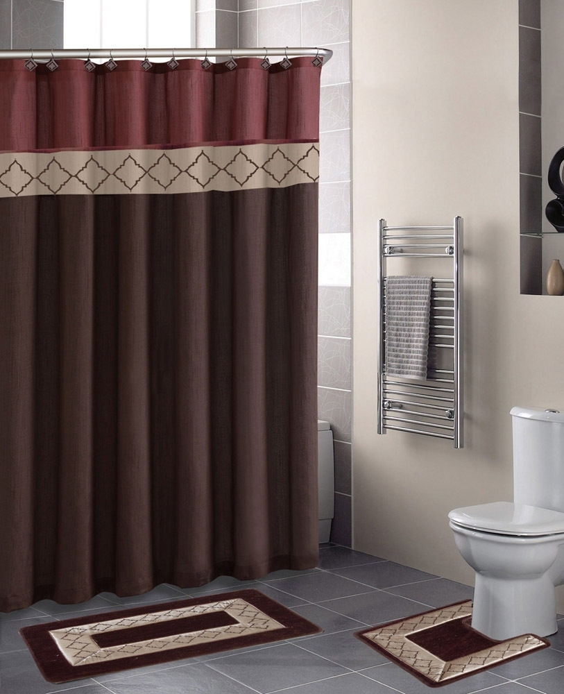 Bathroom Curtain And Rug Setsbathroom decor shower curtains view in gallery mainstays classic