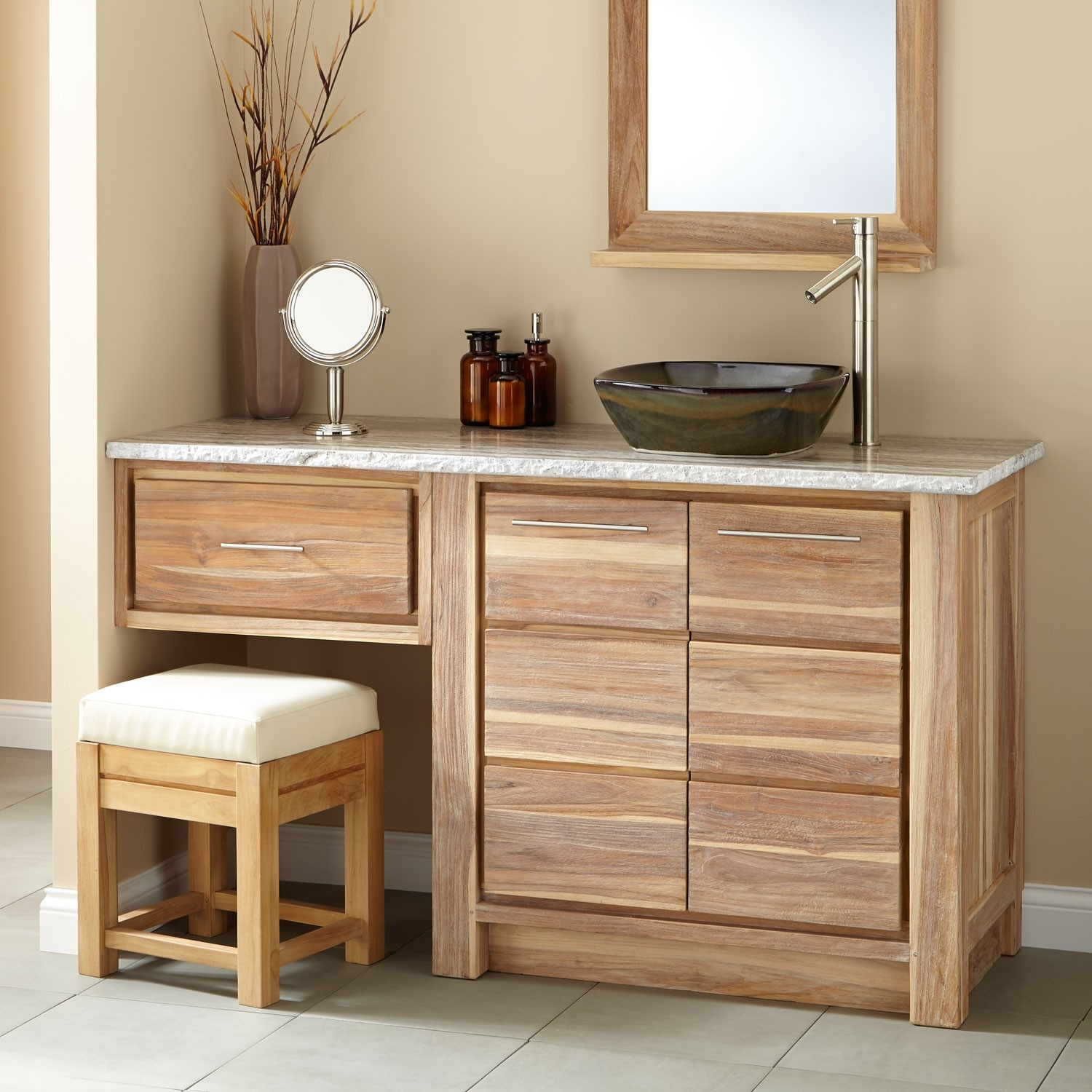 Bathroom Sink Vanity With Makeup Area