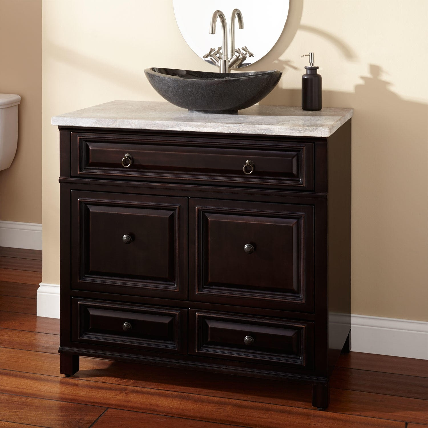 Bathroom Vanities With Glass Sinks