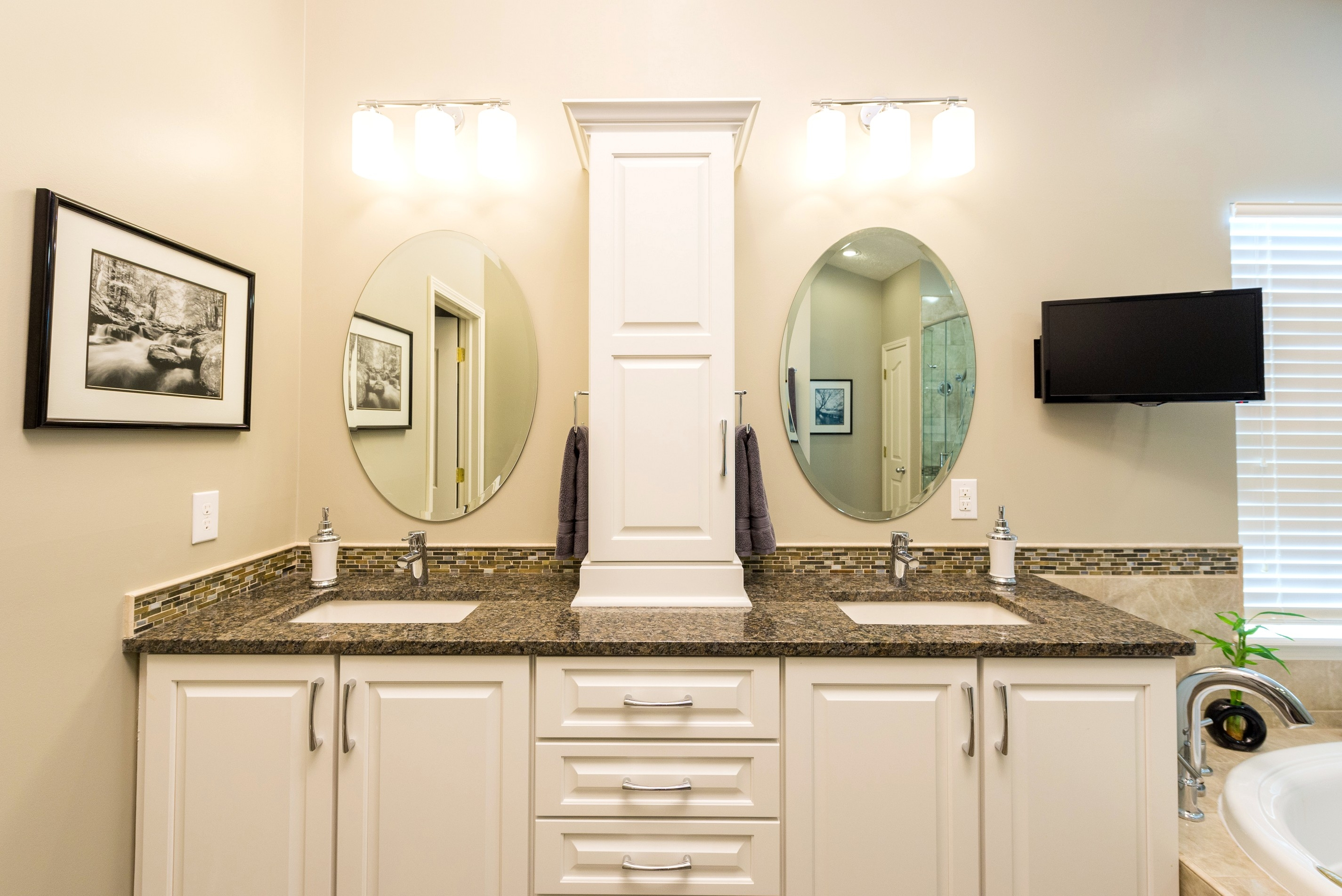 Bathroom Vanities With Tower Storage