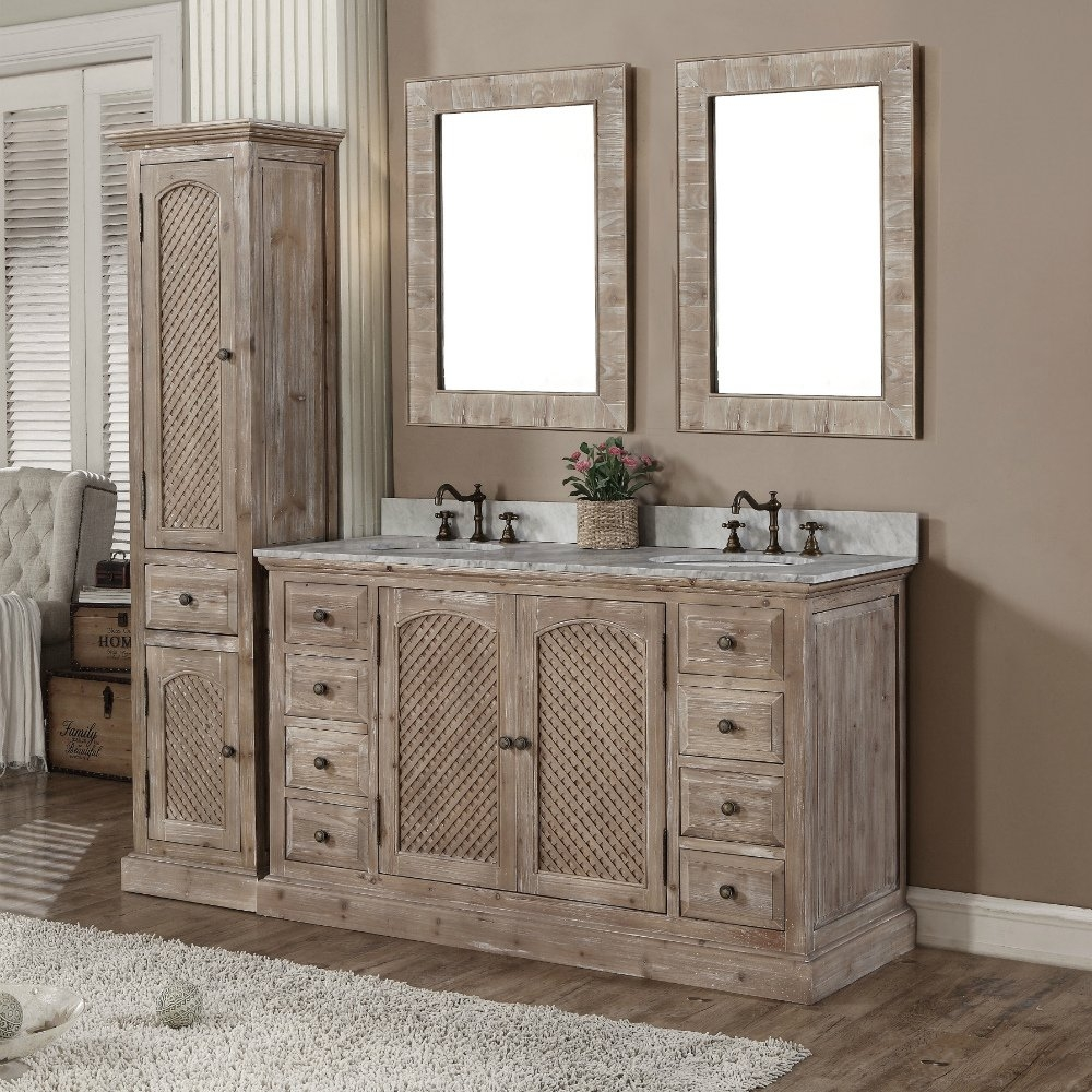 Bathroom Vanity And Linen Tower Sets