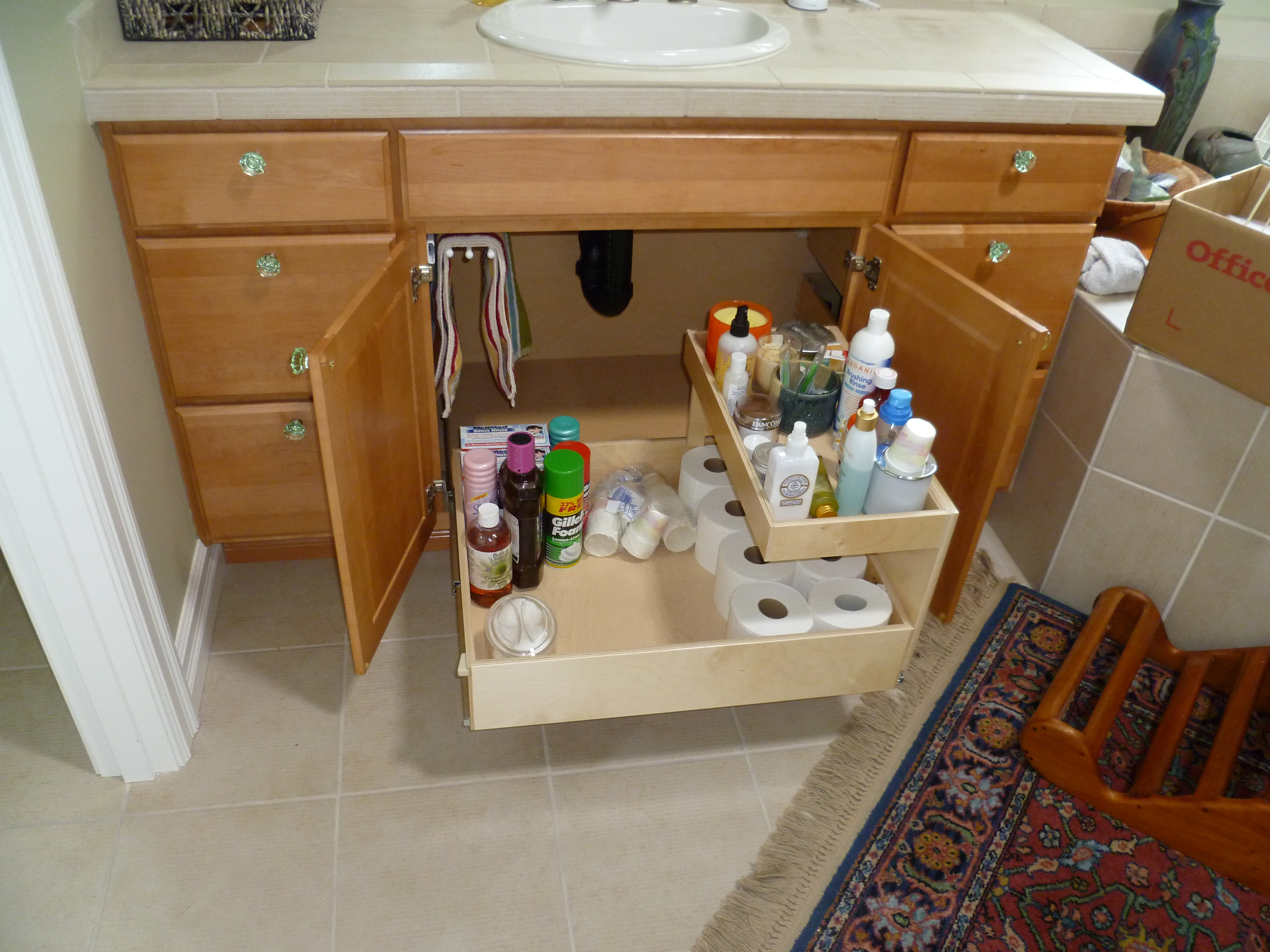 Bathroom Vanity Roll Out Shelf