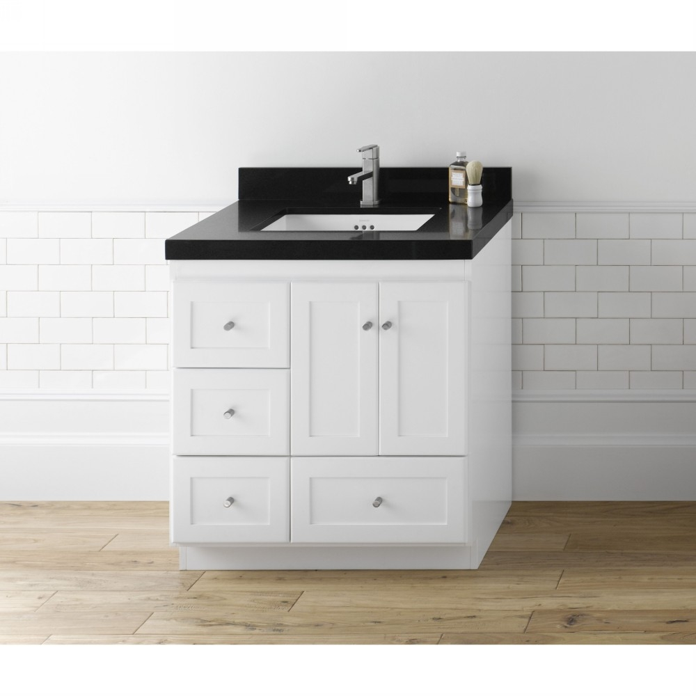 Bathroom Vanity With Drawers On The Left Side1000 X 1000