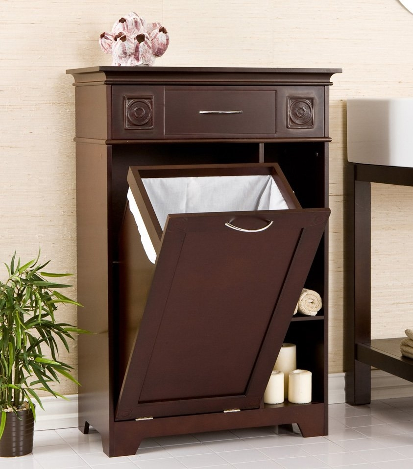 Bathroom Vanity With Pull Out Hamper
