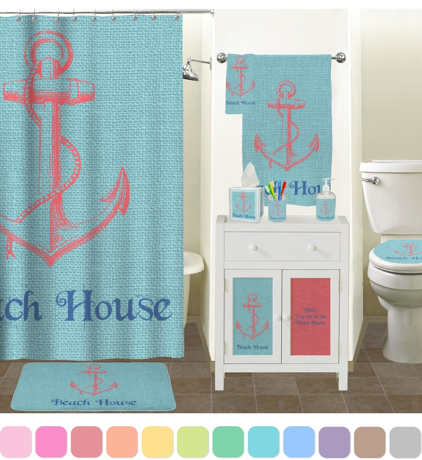 Beach Scene Bath Rugs