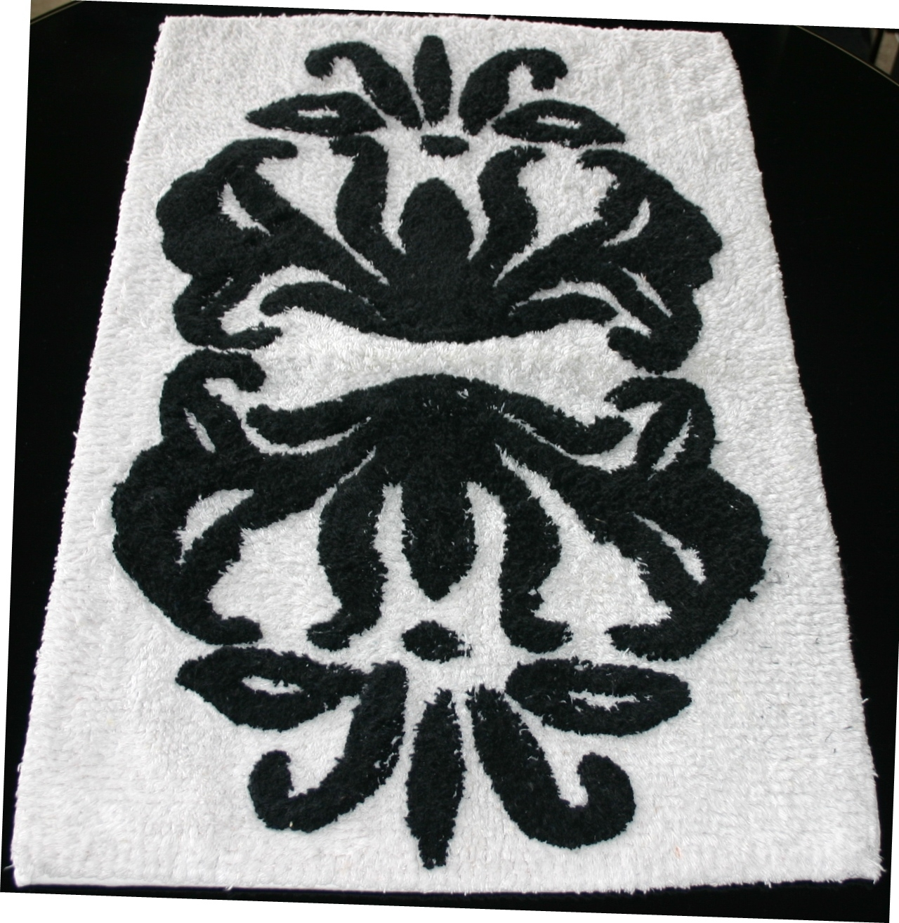 Permalink to Black White And Red Bathroom Rugs