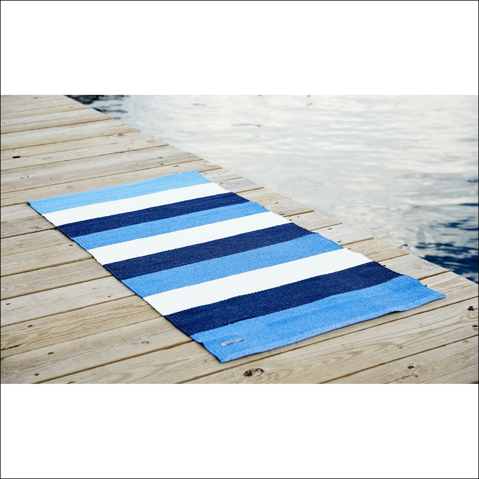 Permalink to Blue And White Striped Bath Rug