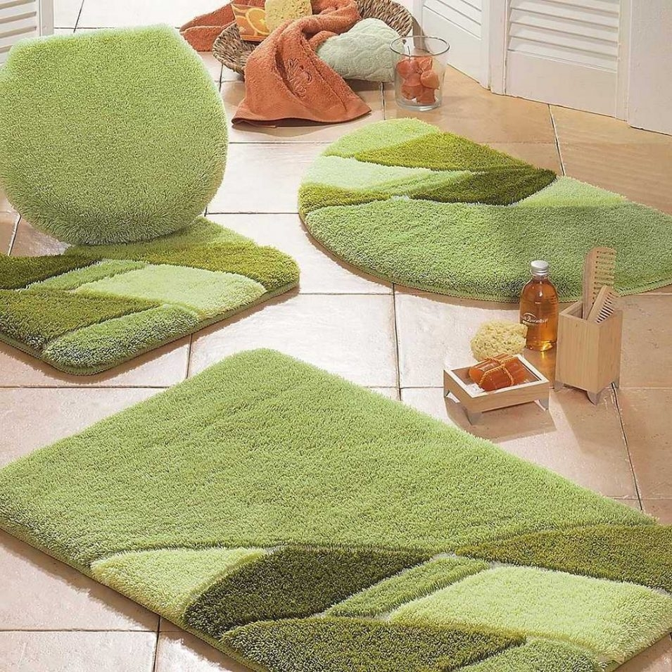 Bright Green Bath Rugs