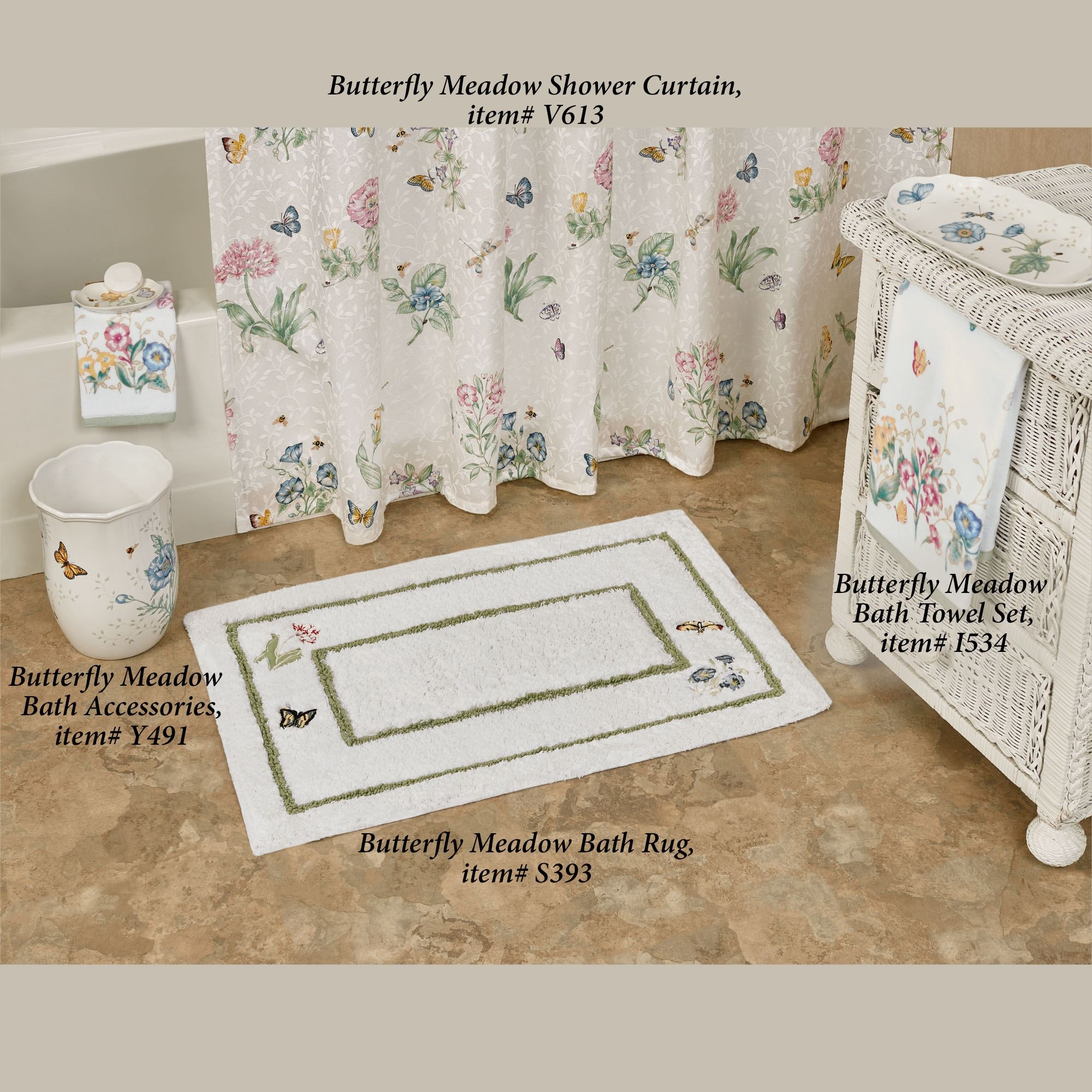 Permalink to Butterfly Meadow Bath Rug