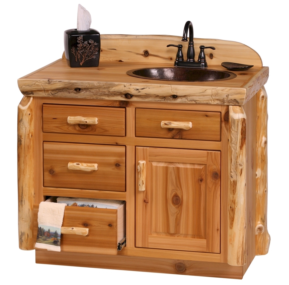 Cedar Log Bathroom Vanity