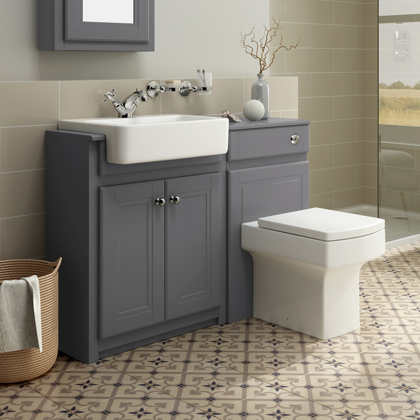 Combination Bathroom Vanity Units