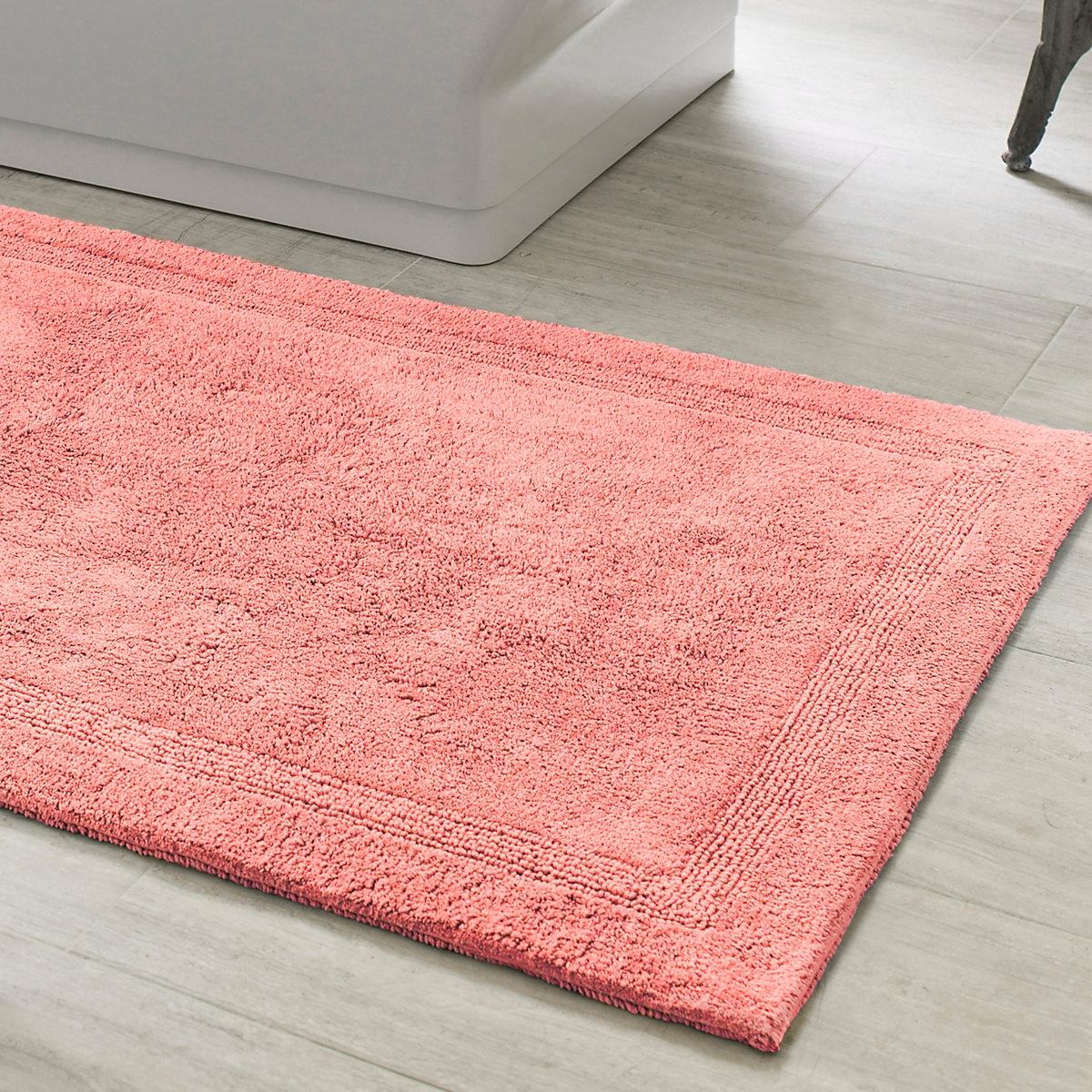 Coral Pink Bath Rugssignature coral bath rug rugs towels and band