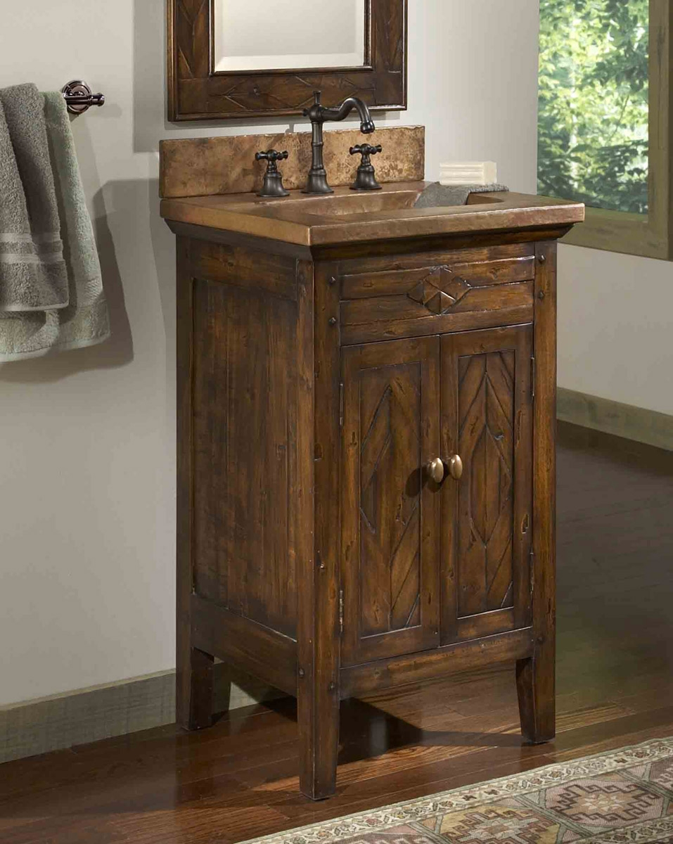 Country Style Bathroom Vanity Cabinets