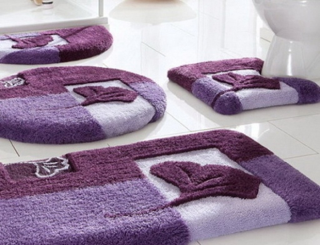 Dark Purple Bathroom Rugs And Towels
