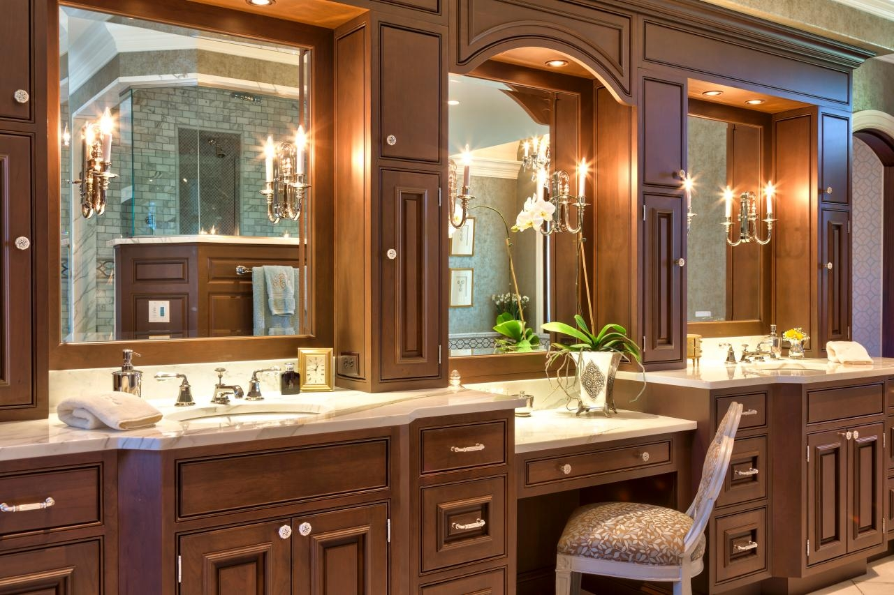 Double Bathroom Vanity With Dressing Table