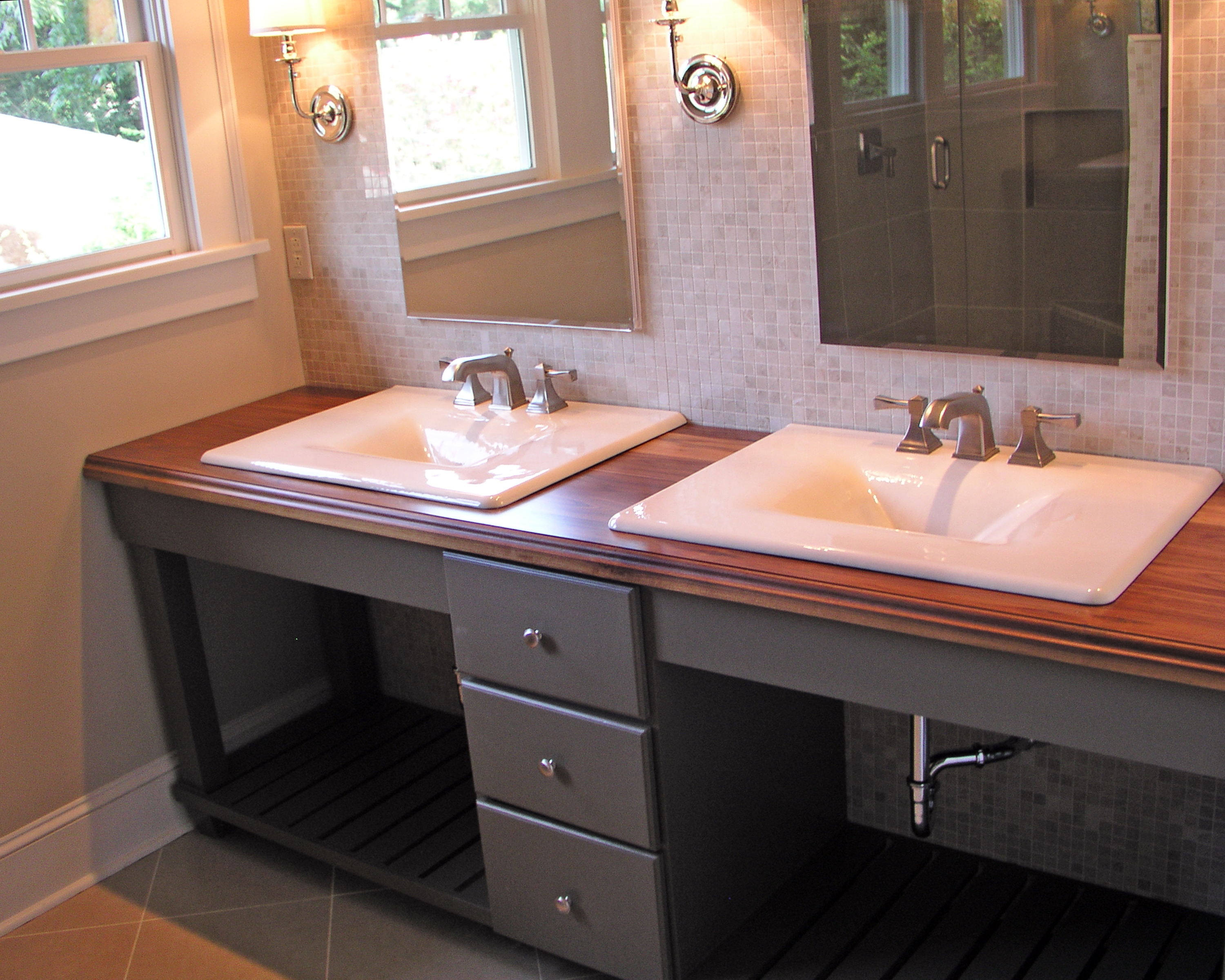 Double Sink Bathroom Vanity Without Top
